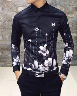 mens printed dress shirt