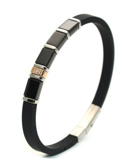 mens rubber bracelet