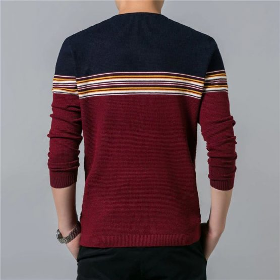 COODRONY Mens Pullover, Striped V-Neck wrong