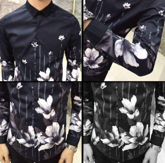 printed dress shirts mens