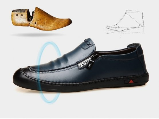 Mens Leather Slip-On Loafers
