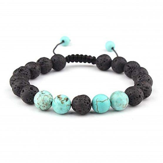 SULYSI Adjustable Lava Rock Stone Essential Oil Bracelet - B07C3N6HP9
