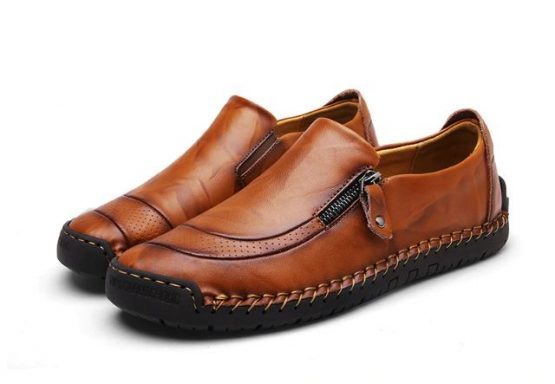 Monaco Mens Hand Stitched Leather Loafers