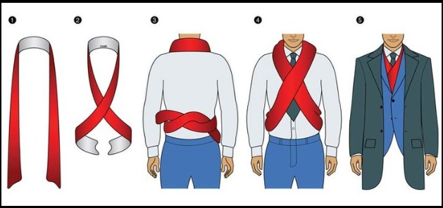 The Chest Warmer, type of scarf knots, how to tie a scarf men