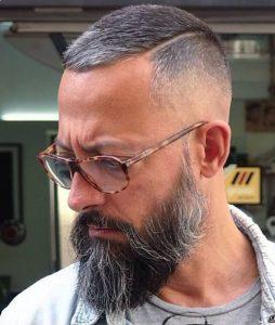 Very Short Hair With Long Beard