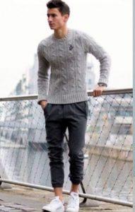 3. Jogger Pants + Sweater