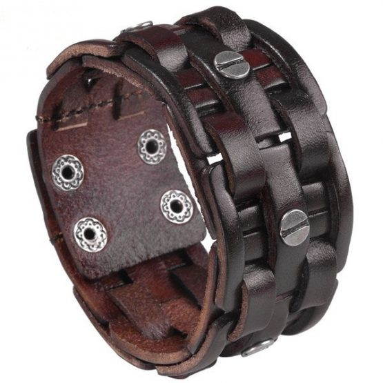 wide Cuff Bracelet Leather,-jbw018801