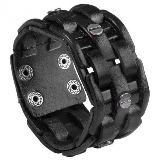 wide Cuff Bracelet Leather,-jbw018801